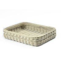 wicker serving tray / wicker tray rectangle / wicker tray fruit bowl