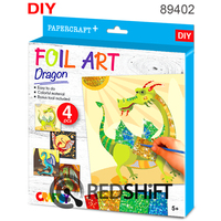 Foil Dragon paper craft 3D kids diy educational toy puzzle making sticker board