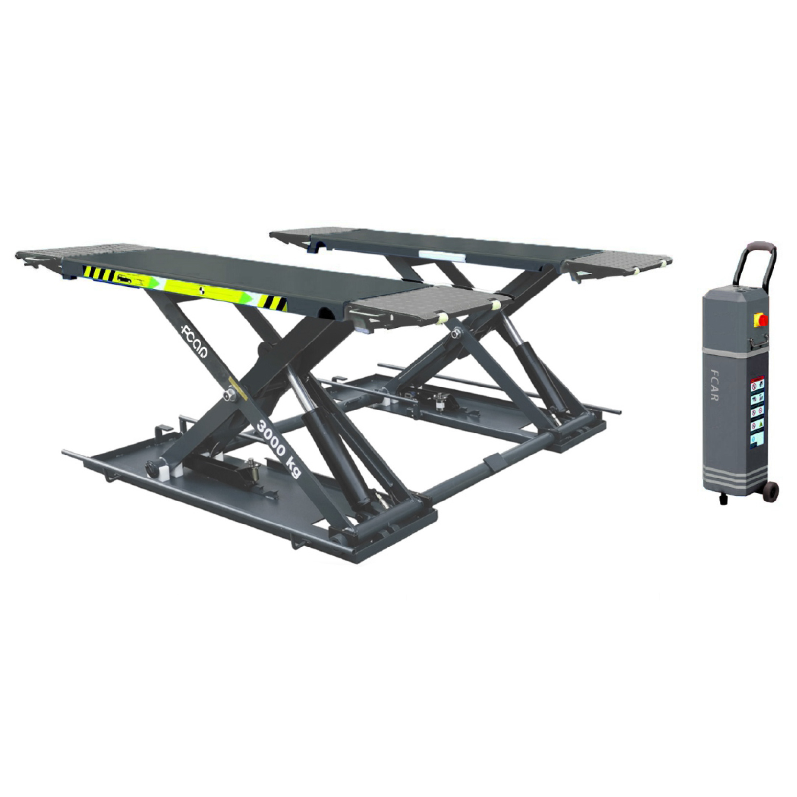 Auto car lift FCAR FC-30CBL on-ground low rise movable scissor lift 3 tons capacity CE tested garage equipment and tools