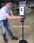 Height Adjustable Disinfection Hand Sanitizer Dispenser Floor And Free Stand