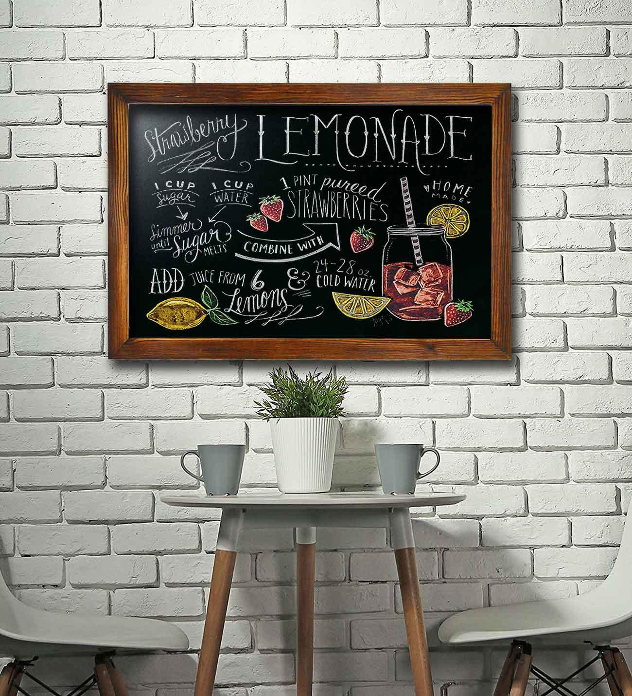 Best Quality Chalkboard For Wall Dry Erase Writing Board Great Decor Home Office Bar Restaurant Buy Kitchen Decor Restaurant Menu Wood Frame Magnetic Chalkboard Whiteboard Blackboard Easel Sign Framed Chalkboard Vintage