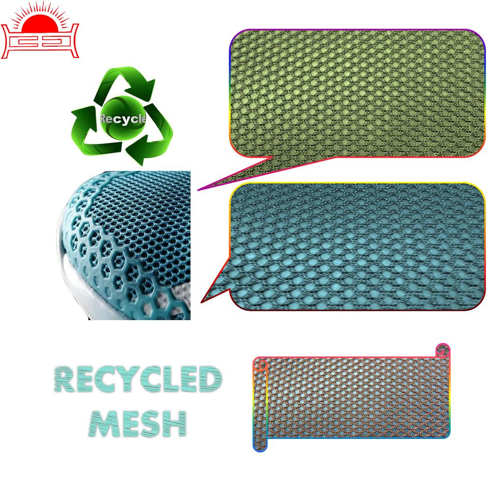 HJ-4008F Daur Ulang PET Net Mesh Kain Tekstil