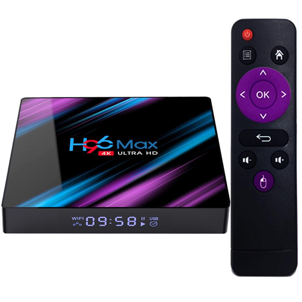 Nhà Máy Giá H96 Max RK3318 4 K HDR RAM 4 GB DDR3 Internet Android 9.0 TV Set Top Box Rockchip h96 Max Set Top Box