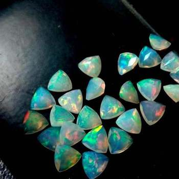 Natural Ethiopian Opal Trillion Cut Gemstones Wholesale Price Loose Stones For Jewelry Making