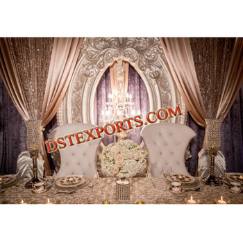 Wedding Stage Royal Backdrop Oval Fiber Backdrop Panel Indian Wedding Backdrop Frame