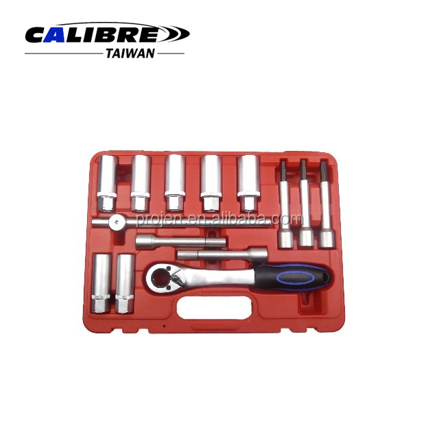 CALIBRE 14pc Shock Absorber Strut Nut Removal Tool Kit