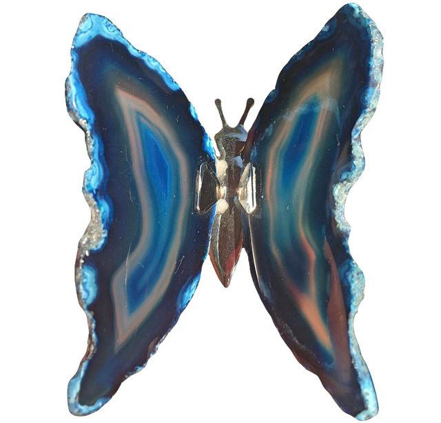 Agate Slice BFLY-10003 Gemstone Butterfly Boho Decor Agate Geode Home Decor Natural Agate Slice Butterfly Butterfly Wings