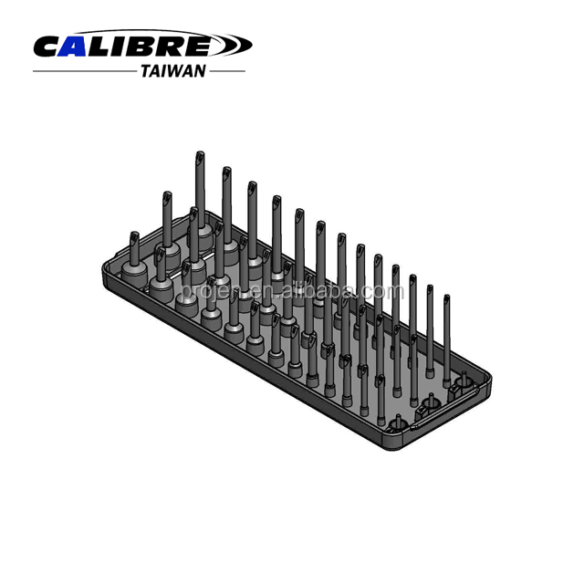 "CALIBRE 1/4""Dr. 3 Row Metric Deep and Semi-Deep & Standard Socket Tray Holder Regular & Deep Socket Holder"