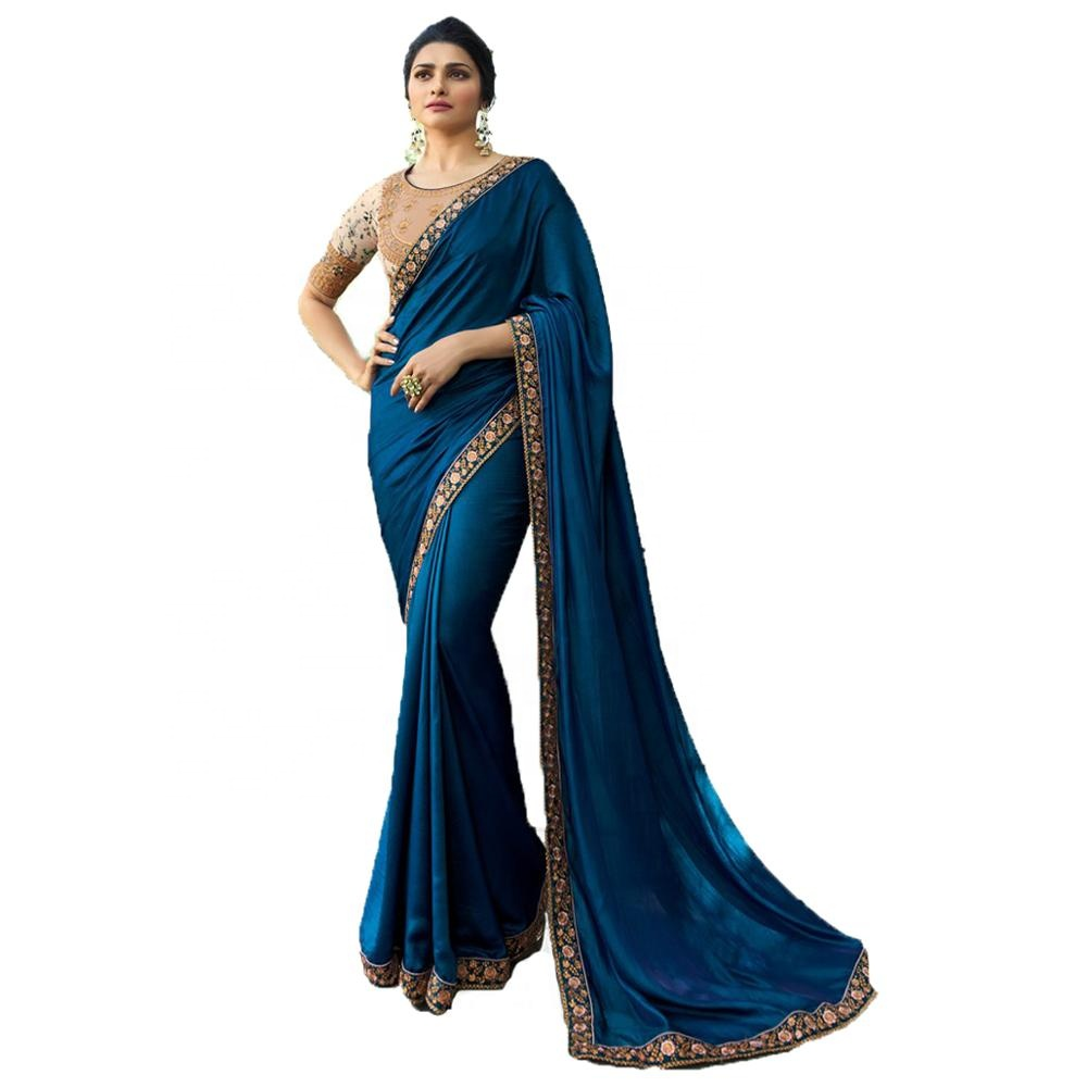 Sari Indien NINDOT Saree Indien en Soie tiss/ée /à la Main Cadeau de Mariage pour Femme