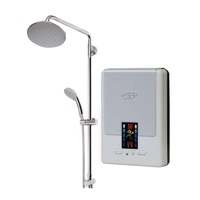 Silver Grey Safe and Reliable Instant Electric Water Heater