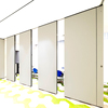 Movable acoustic soundproof office partition folding wood doors