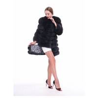 Fox Fur Natural Real Fur Coat Female Sheep Fur Jacket Luxury Coat
