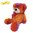 Top Hit Rates Product Best Selling Custom Softtoys Tie-dye Bear Red In Stock Peluche Toy Plush Doll For Kids