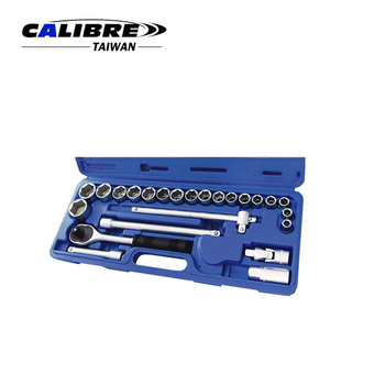 "CALIBRE Hand Tools 24pc 1/2"" Dr Ratchet Socket Wrench Set"