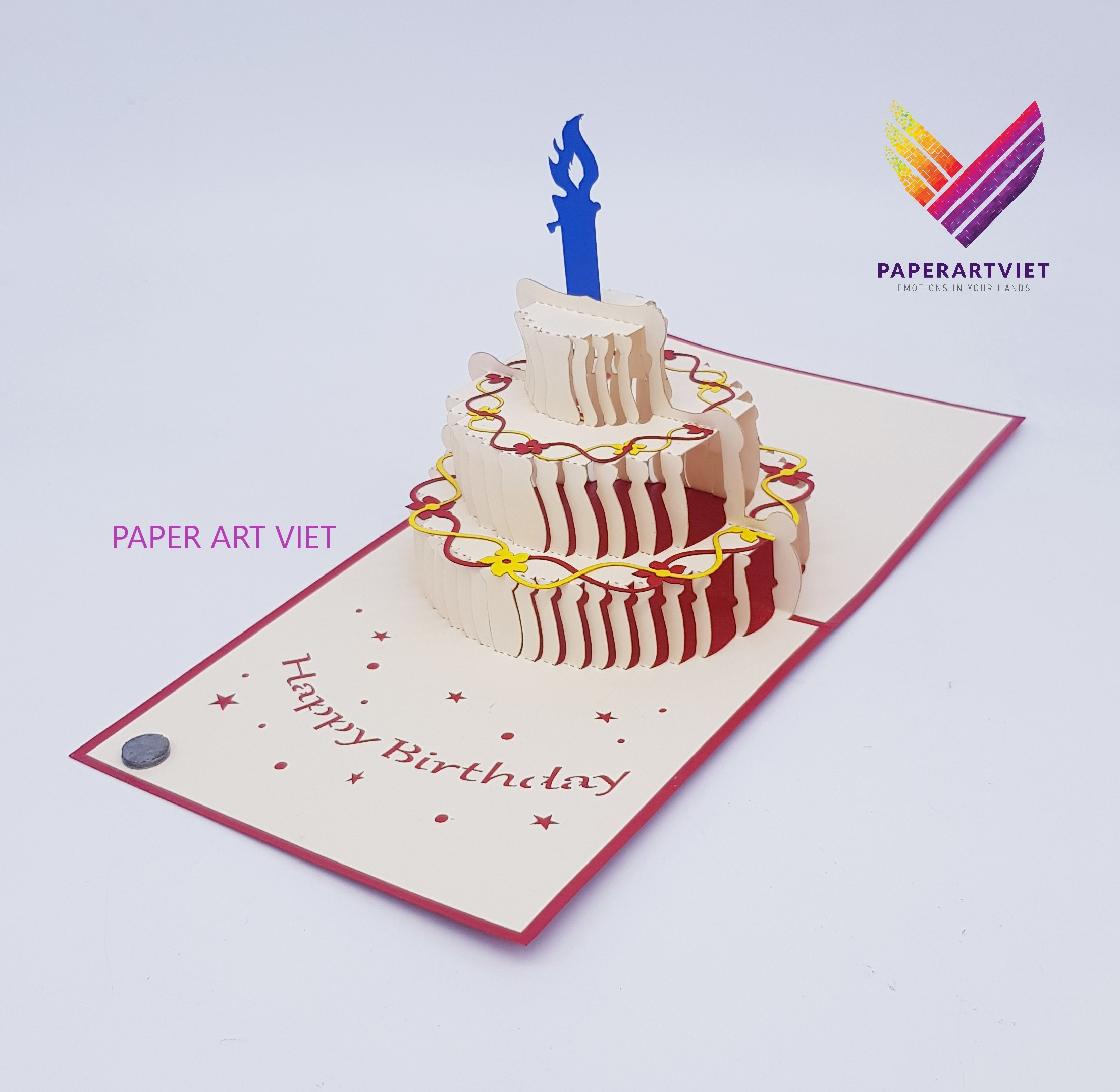 Tremendous 3D Pop Up Card Happy Birthday Candle Greeting Card Paper Handmade Funny Birthday Cards Online Inifofree Goldxyz