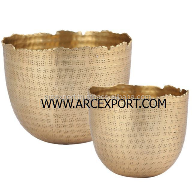 gold designer bowl