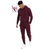 Custom High quality men's tracksuit 100% cotton blank latest design plain sweat suits