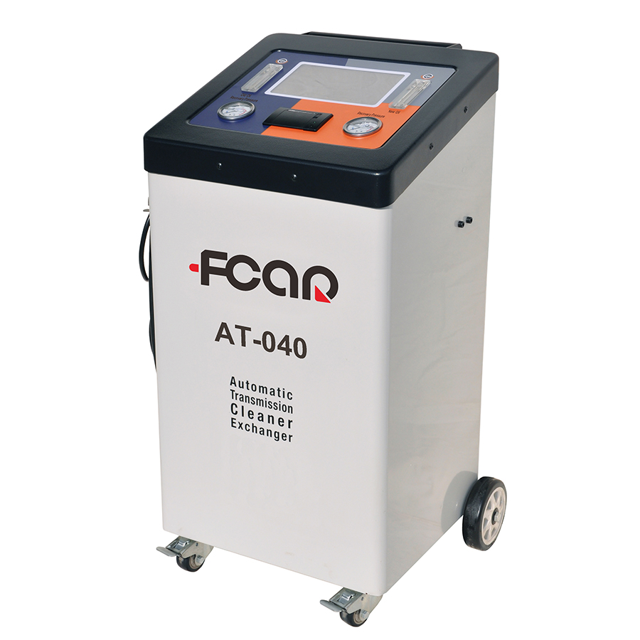 Auto transmission fluid changer FCAR AT-040 precise electronic flowmeter auto cycling cleaning 10 inch screen built-in printer