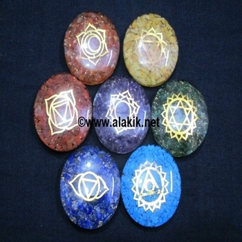 Chakra Orgone Disc set with charms