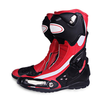 Long Leather Boots Motorbike Racing / Long Racing Motorcycle Shoes