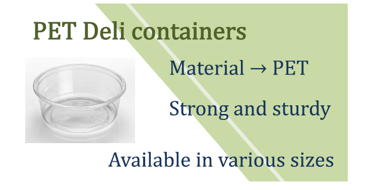 117mm 32oz PET round deli container