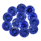 2x2mm-7x7mm AAAA quality Natural Blue Tanzanite round cut faceted loose gemstone