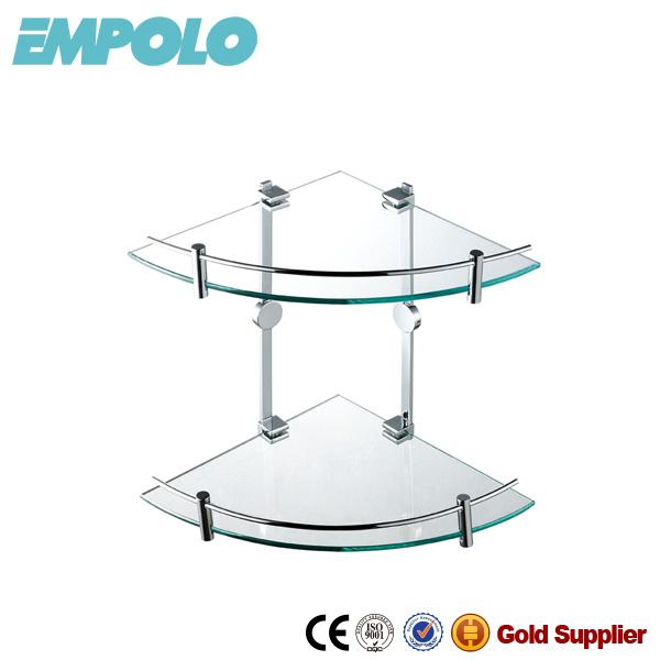 Empolo custom coin tag re en verre salle de bains 2 tiers Etagere salle de bain en verre