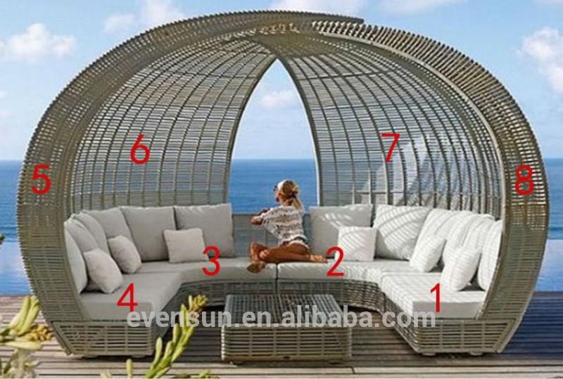 Outdoor Dusche Rattan : Garten u art sitzgruppe, Luxus patio u sofa mit sonnenschutz, Garten