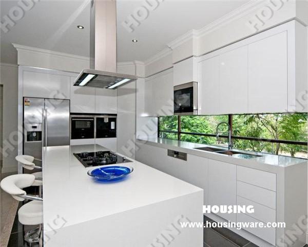 Weiß hochglanz küchenschränke, moderne küche design, lack ...