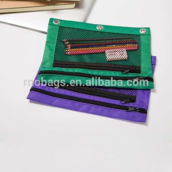 Canvas 3 Ring Binder Zipper Pencil Pouch