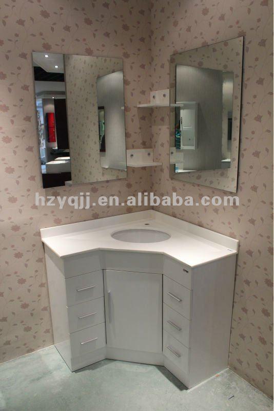 Glace Salle De Bain Avec Luminaire : Corner Bathroom Vanity Cabinets
