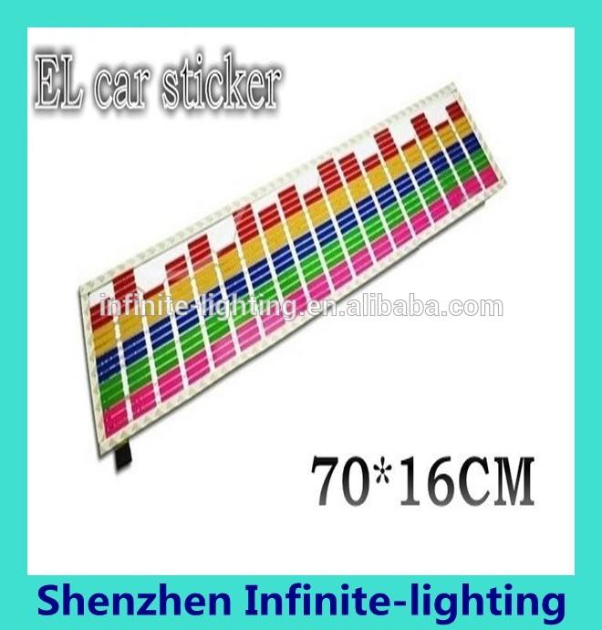 70x16 cm car sticker musica sonido activado ecualizador ritmo flash led light lámpara Fabricantes de fabricación, proveedores, exportadores, mayoristas